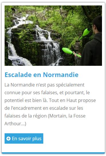 Escalade en Normandie