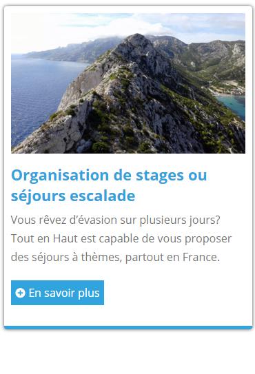Stage d'escalade en Normandie ou ailleurs